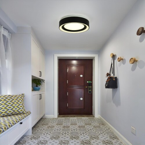 Cedar Hill 13 in. Round Dimmable LED Flush Mount Ceiling Light 3000K/4000K/5000K CCT Perspective: top