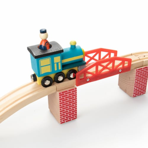 Red Brick Wood Train Risers, 8-pack Perspective: top