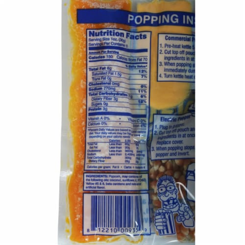 Great Northern Popcorn 1 Case (24) of 6 Ounce Popcorn Portion Packs Kit Cinema Perspective: top