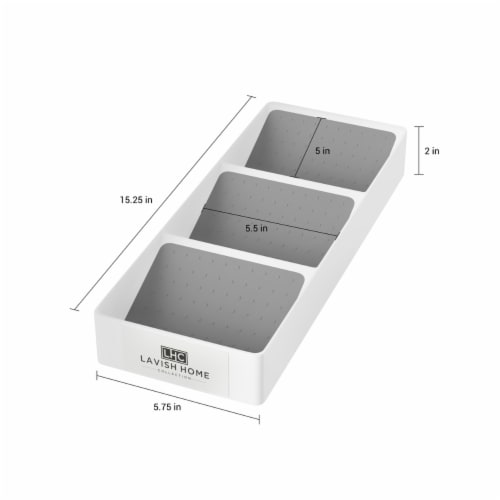 Spice Drawer Organizer 3-Tier Plastic Nonslip Space Saver Storage Rack with Angled Shelves Perspective: top