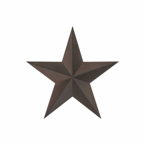 Barn Star-24-Inch Metal Indoor Rustic Farmhouse Americana Hanging Dimensional Wall Decor Perspective: top