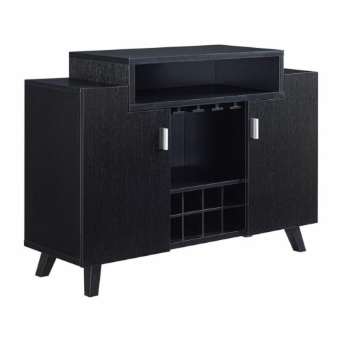 Furniture of America Pahrump Wood Wine Storage Buffet in Black Perspective: top