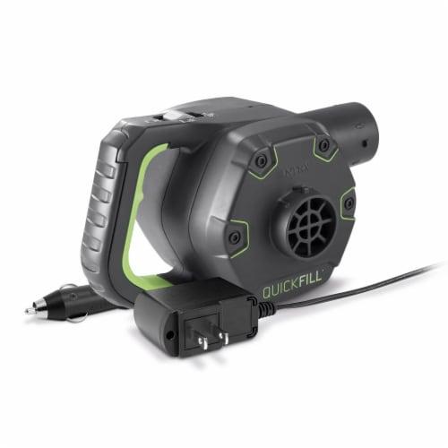 Intex 120V Cordless Electric Air Pump Intex Kidz Inflatable Air Mattress w/ Bag Perspective: top