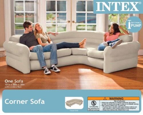 Intex Inflatable Corner Sectional Sofa & Intex 120-Volt Corded Electric Air Pump Perspective: top