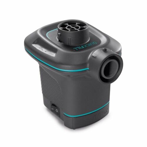 Intex Inflatable Corner Sectional Sofa w/ 120V Quick Fill AC Electric Air Pump Perspective: top