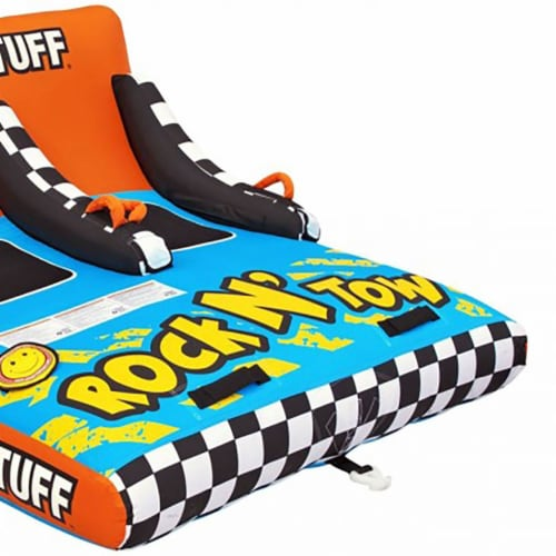 Sportsstuff Inflatable Rock N' Tow 2 Sitting Double Rider Towable Boat Lake Tube Perspective: top