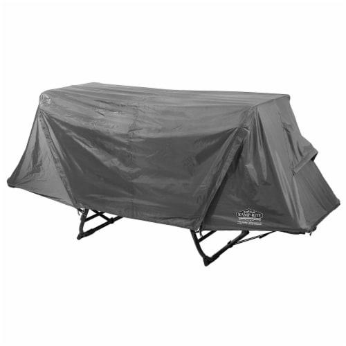 Kamp-Rite Original 1 Person Tent Cot Folding Bed Bundle w/ Valuables Storage Bag Perspective: top