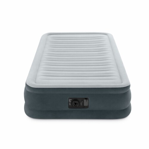 Intex PVC Dura-Beam Series Mid Rise Airbed with Built In Pump, Twin (4 Pack) Perspective: top