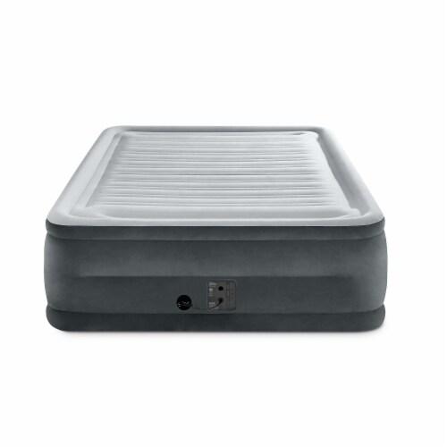 Intex Comfort High Rise Dura Beam Air Mattress w/ Built-In Pump, Queen (2 Pack) Perspective: top