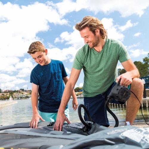 Intex Quick Fill 120 Volt AC Electric 38.9 CFM Inflatable Pump (2 Pack) Perspective: top