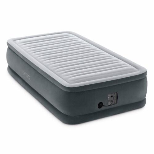 Intex Dura Beam Airbed, Twin & Intex Deluxe Air Bed, Queen w/ Built In Pumps Perspective: top