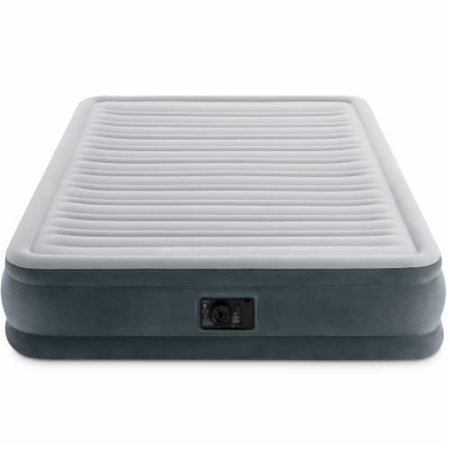 Intex Mid Rise Queen Airbed w/ Air Pump & Mid Rise Twin Airbed w/ Air Pump 2Pack Perspective: top