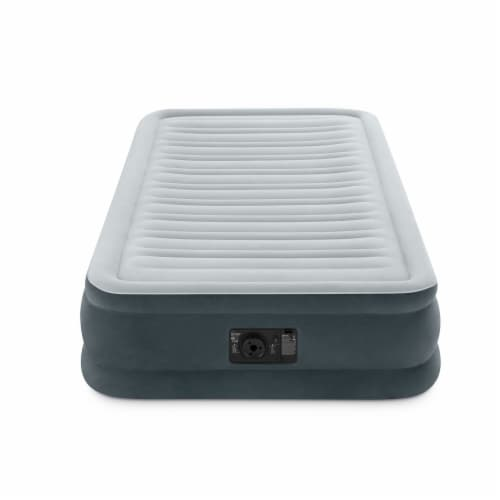 Intex PVC Dura-Beam Series Mid Rise Airbed with Built In Electric Pump, Twin (8) Perspective: top