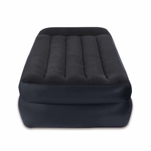 Intex Dura-Beam Pillow Rest Air Mattress Bed w/ Built-In Pump, Twin  (4 Pack) Perspective: top