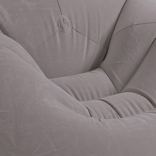 Intex Inflatable Contoured Corduroy Beanless Bag Lounge Chair, Gray (6 Pack) Perspective: top