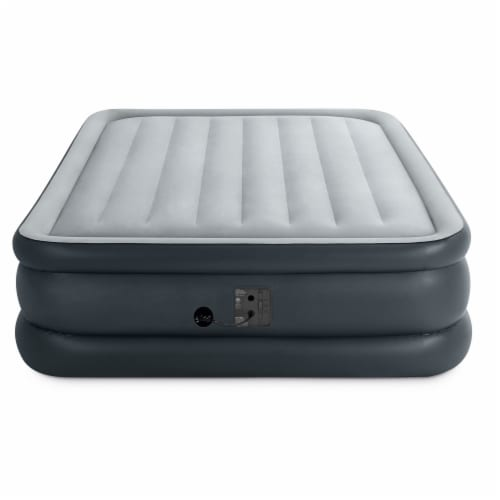 Intex QueenDura Beam Essential Air Mattress w/ Built-in Electric Pump (5 Pack) Perspective: top