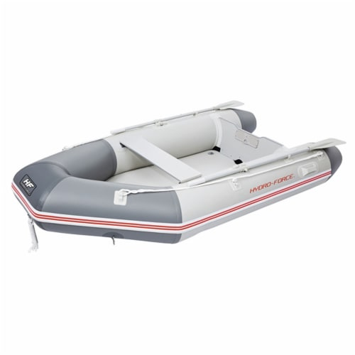 Bestway Hydro Force 110 Inch Inflatable Boat Set with Oars and Pump (2 Pack) Perspective: top