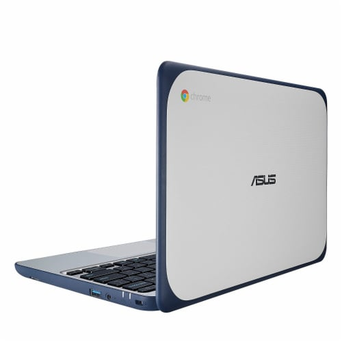 ASUS 11.6-inch Chromebook Laptop with 180 Degree Hinge (Certified Refurbished) Perspective: top