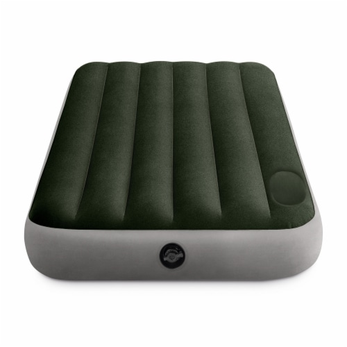 Intex Dura-Beam Standard Downy Airbed w/ Built-In Foot Pump, Twin Size (2 Pack) Perspective: top