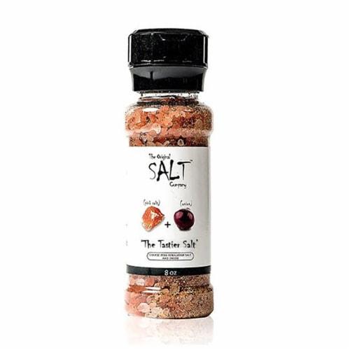 The Original Salt Company 8 Ounce Pink Himalayan Salt Garlic and Onion Grinder Perspective: top