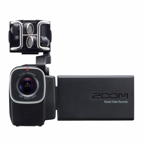 Zoom Q8 Video Professional Camera & H2N Portable 4 Track Digital Audio Recorder Perspective: top