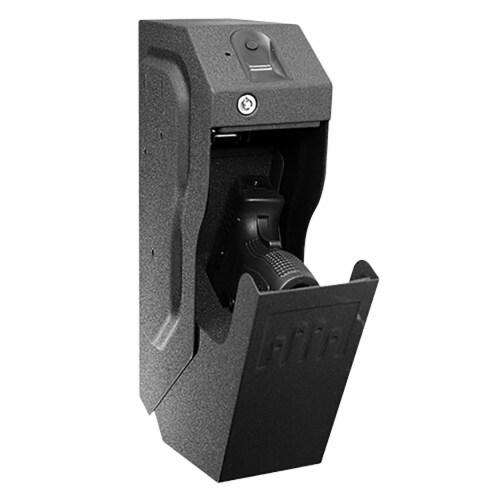 GunVault SpeedVault Series Quick Access Biometric Handgun Safe, Black (2 Pack) Perspective: top