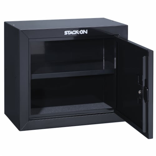 Stack On Stackable Locking 15 Inch Steel Pistol and Ammo Cabinet Safe (2 Pack) Perspective: top