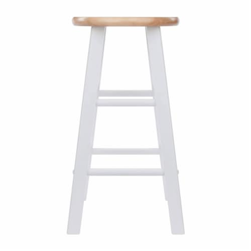 Winsome Element 23.86 Inch Solid Wood Counter Bar Stool Set, White (4 Pack) Perspective: top