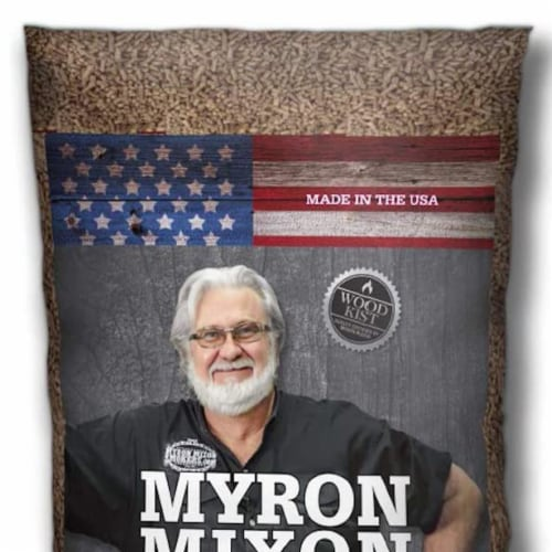Myron Mixon Smokers Wood BBQ Pellets for Smoking & Grilling, Hickory (2 Pack) Perspective: top