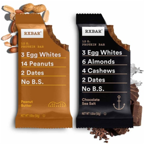RXBAR Chocolate Sea Salt + Peanut Butter Variety Pack 24 Count Perspective: top