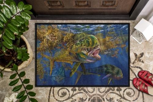 Carolines Treasures  JMA2013JMAT Seaweed Salad Mahi Indoor or Outdoor Mat 24x36 Perspective: top
