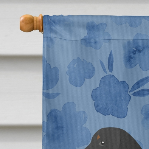 Carolines Treasures  CK6109CHF Dachshund Welcome Flag Canvas House Size Perspective: top