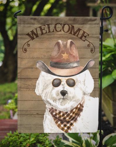 Carolines Treasures  CK6287GF Bichon Fris? #2 Country Dog Flag Garden Size Perspective: top