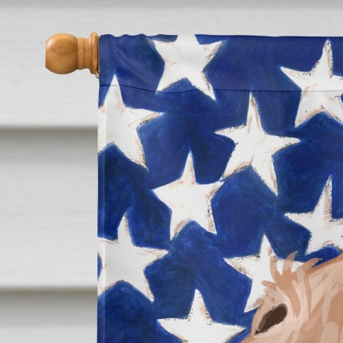 Segugio Italiano Dog American Flag Flag Canvas House Size Perspective: top