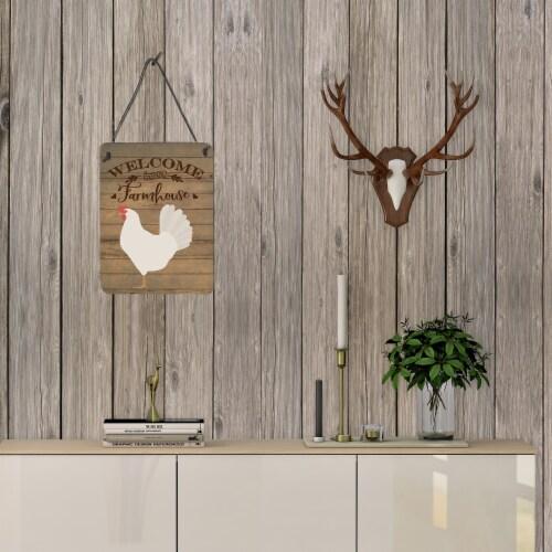 Leghorn Chicken Welcome Wall or Door Hanging Prints Perspective: top