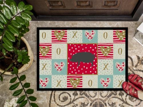 Carolines Treasures  CK5360JMAT Berkshire Pig Love Indoor or Outdoor Mat 24x36 Perspective: top