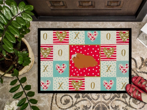Carolines Treasures  CK5431JMAT Peruvian Guinea Pig Love Indoor or Outdoor Mat 2 Perspective: top