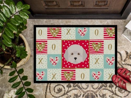 Kroger Carolines Treasures Ck5193mat Cyprus Poodle Love Indoor Or Outdoor Mat 18x27 18hx27w