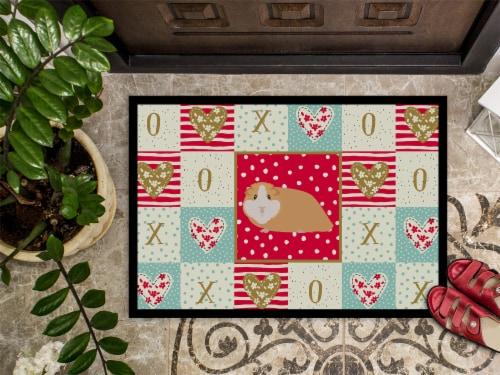 Carolines Treasures  CK5427MAT American Guinea Pig Love Indoor or Outdoor Mat 18 Perspective: top
