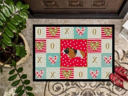 Carolines Treasures  CK5432MAT Rex Guinea Pig Love Indoor or Outdoor Mat 18x27 Perspective: top