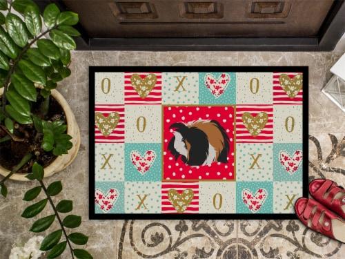 Carolines Treasures  CK5433MAT Sheba Guinea Pig Love Indoor or Outdoor Mat 18x27 Perspective: top