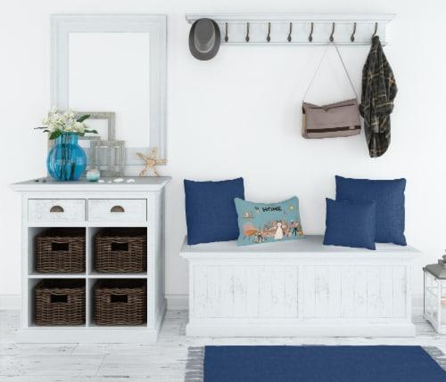 West Siberian Laika Spitz Sweet Home Canvas Fabric Decorative Pillow Perspective: top