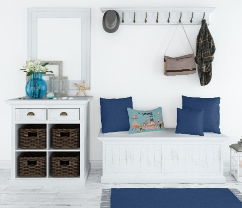 Salt and Pepper Standard Schnauzer Sweet Home Canvas Fabric Decorative Pillow Perspective: top