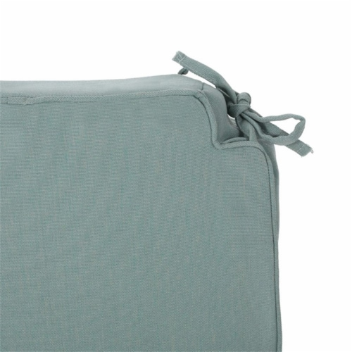 Noble House Old Orchard Outdoor Fabric Skirted Chair Cushion in Teal Perspective: top