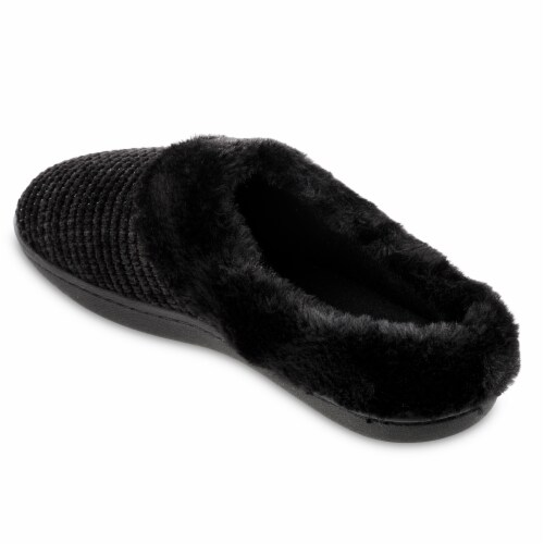 Isotoner­® Striped Chenille Ann Hoodback Slippers Perspective: top