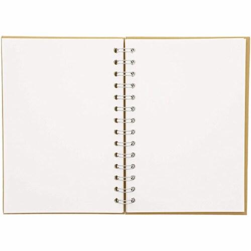 Kraft Cover Notebook, Spiral Hardcover Sketchbook (7.75 x 5.75 In, 3-Pack) Perspective: top
