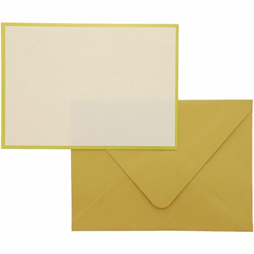 48x Blank Invitation Cards and Envelopes Wedding Baby Bridal Shower Gold 4x6 Perspective: top