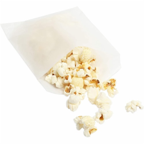 Wax Paper Goodie Snack Bags (4.75 x 6.5 in, 200 Pack, White) Perspective: top