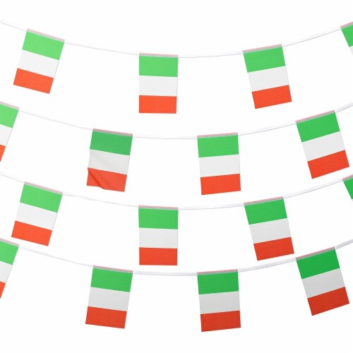 Juvale Italian Flag Banners (100 ft, 80 Flags) Perspective: top