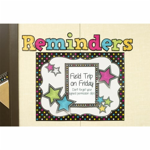 Teacher Created Resources Chalkboard Brights Bold Block Letters Combo Pack - 3 Pack Perspective: top